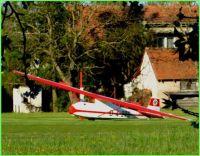 Historické letadlo---výstava