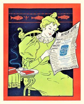 Themes Vintage ads - high life coffee
