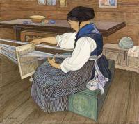 Ernest Biéler (Swiss, 1863–1948), The Weaver