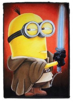Solve Minion Jedi Jigsaw Puzzle Online With 48 Pieces