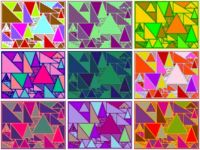 051818 Geometric Triangles Color Variations Collage