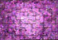 lavender glass mosaic with screen