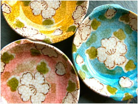Pretty Pottery Bowls by majlee on flikr