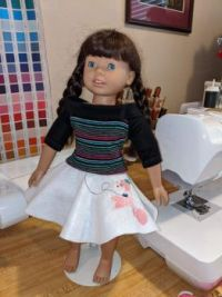 Doll in a Poodle Skirt