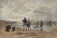 "August Hagborg, ""Shellfishing at Low Tide"", Normandy"