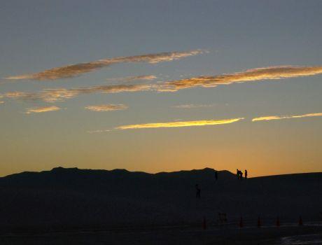 Dusk at White Sands NM