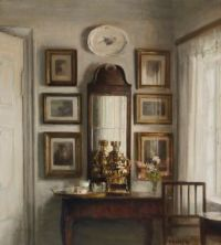 Carl Vilhelm Holsøe (Danish, 1863–1935), Interior with a Samovar