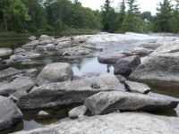 Rocks in the Ausable River
