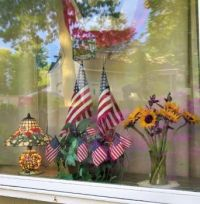 For Memorial Day, Flag Day, July 4th & Flowers for Shadow (from outside)