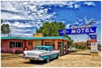 Vintage Cars at the Blue Swallow Motel in Tucumcari, New Mexico