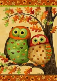 Autumn owls by debi hron