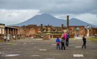 in 79 AD, Mount Vesuvius erupted, devastating the Italian city of Pompei