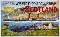 Old time poster: Tour Boat doing the Western Highlands of Scotland