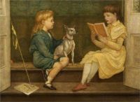 Two of the Crane Children, Beatrice and Lionel,1880 by Walter Crane