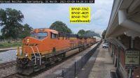 BNSF-3262, 4035 smoking, & 7927 southbound Spartanburg,SC
