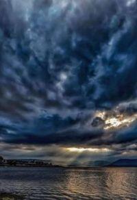 Storm clouds over Greenock, Scotland