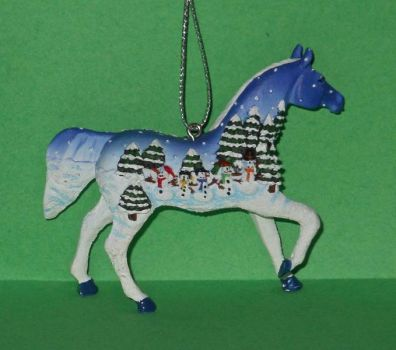 Painted Pony ornament 9b - Let It Snow