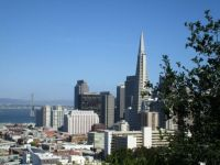Transamerica tower from Russian Hill