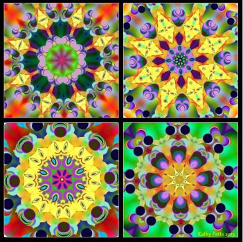 Four Kaleidoscopes Small Size