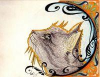 Art nouveau cat