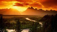Sunrise - Grand Tetons Snake River