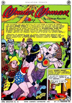 Sensation Comics No. 40 April 1945 with Wonder Woman and featuring Draska the Deadly
