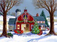 The Red Sleigh Barn by Geraldine Aikman