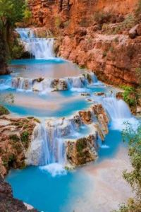 Beaver Falls on Havasu Creek, Grand Canyon, Arizona  USA