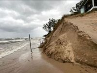 weather -dune erosion, west side of Lake Michigan