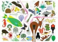 Charley Harper Lots of Animals Less Pieces