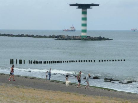 This is the place where North Sea and Nieuwe Waterweg meet (river to Rotterdam -> Germany, actually the river Rhine / Rijn)