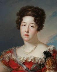 Vicente López y Portaña Portrait of Portuguese infanta D.ª Maria Isabel of Braganza 1st half of 19th century