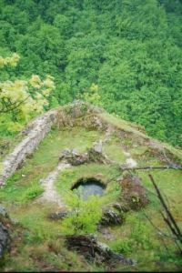 Water reservoir in medieval royal castle of Bobovac, Bosnia