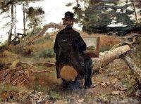 Le Peintre Fredrik Kaemmerer au travail Oosterbeek, 1861 de Jacob MARIS