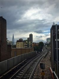 Train ride, London, England