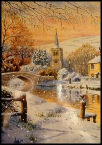 Seasonal - Winter Snow Scene - Canalside Christmas (Sm/Medium)
