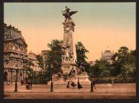 Paris Monument circa 1910 Photochromatic Image