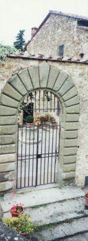 Gate at Poggio Al Sorbo in Tuscany
