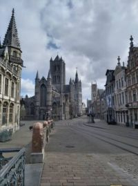 A snapshot of 'The Three Towers' of Ghent/Belgium