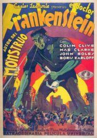 Frankenstein (1931) movie poster in Spanish