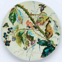 Glazed Earthenware Dish with Foil Inclusions, c. 1880, Léon Parvillée