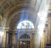 Sun streaming in to the St George's Hall, Liverpool