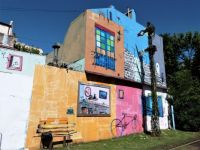 Colourful wall in Buenos Aires