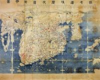 Old map of Korea 1400