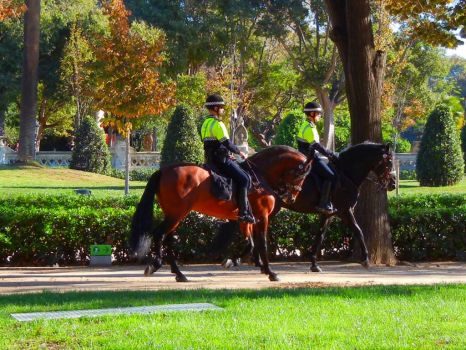 Barcelona Guards on Horses