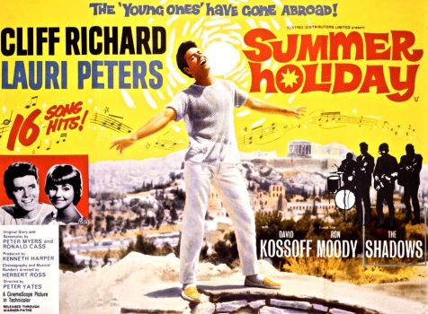 SUMMER HOLIDAY - 1963 UK POSTER    CLIFF RICHARD, LAURI PETERS