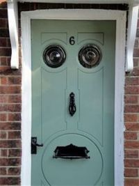 Door with a face