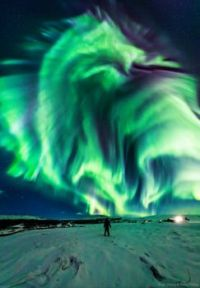 Dragon Aurora over Iceland.