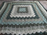 My green crochet afghan