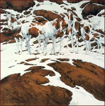 Pintos by Bev Doolittle